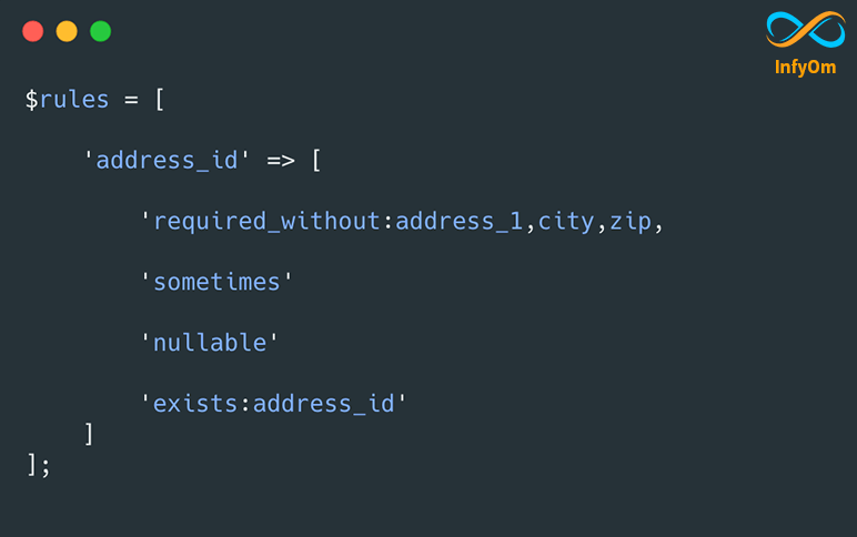 Use of Required Without Validation Rule in Laravel