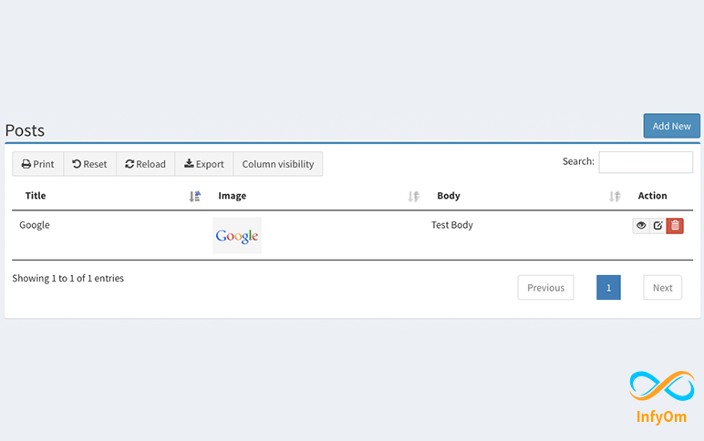 How to Display Image in DataTable with yajra laravel-datatables with laravel generator
