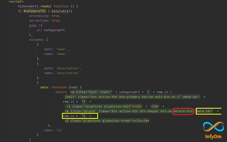 How to delete record using Ajax in Laravel